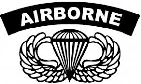 Airborne Banner With Wings Car Or Truck Window Decal Sticker Rad Dezigns