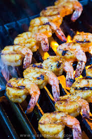 Grilled Shrimp Skewers with Honey ...