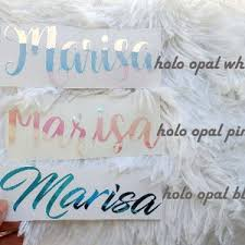 Holographic Name Sticker For Tumbler Custom Name Decal Etsy