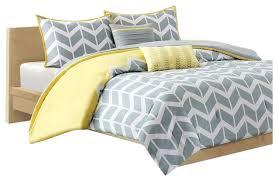 chevron stripes comforter set in gray