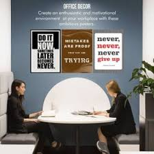 poster combo pack of motivational quote wall poster for office and