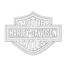 Shop Harley Davidson Logo Cutz Rear Window Decal White Overstock 15704656