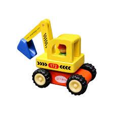 Đồ chơi gỗ Xe máy xúc - đồ chơi cho bé trai học hỏi, năng động