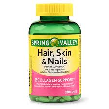 hair skin nails caplets with biotin