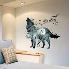 Wolf Wall Stickers Vinyl Diy Animal Mural Decals For House Kids Rooms Aty Home Decor