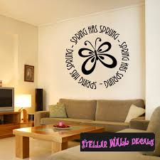Spring Has Sprung Butterfly Spring Holiday Wall Decals Wall Quotes Wall Murals Hd087 Swd