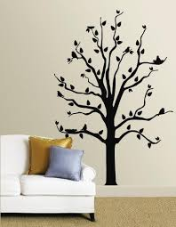 Black Tree With Birds Wall Decal Allposters Com