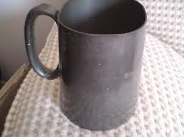 tah yee pewter mug tankard with glass