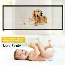 Retractable Dog Gate Pet Cat Fence Baby Child Safe Wide Indoor Adjustable 180 72 Ebay