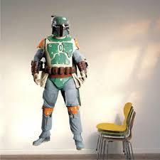 Star Wars Wall Decals Boba Fett Wall Sticker Return Of The Jedi Murals B11 Ebay