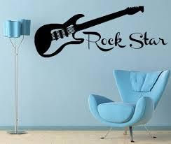 Guitar Rock Star Decal Wall Vinyl Decor Sticker Bedroom Music Kids Children Art Jr11 Walmart Com Walmart Com