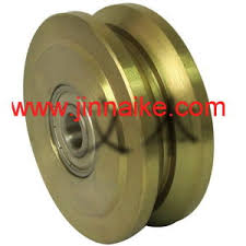 China 4 Hard Plastic Uhmw V Groove Wheel With Bronze Bushings For Gate Or Fence Zinc Pulley China Sliding Gate Wheel Sliding Door Wheel