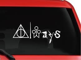 Classic Film Harry Potter Car Sticker Creative Always With Symbols Vinyl Car Decal Car Sticker Film Stickerstickers Stickers Aliexpress