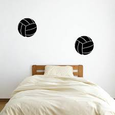 2 12 Volleyball Vinyl Wall Decals Pick Color Sports Decal Kid S Room Ebay