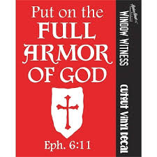 Armor Of God Eph 6 11 Shield Cut Out Auto Window Decal Ss 7039