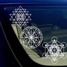 Sacred Geometry Math Kabbalah Car Window Sticker Decal Pack Lot Of 3 Owntheavenue