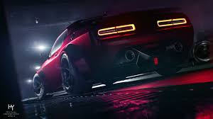 dodge challenger srt demon 4k 3