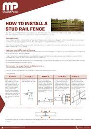 Stud Rail Installation By Mcveigh Parker Farm Fencing Suppliers Issuu