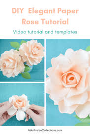 small paper rose craft tutorial