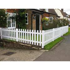 White Primed Picket Fencing