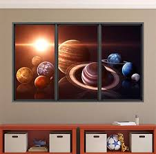 Amazon Com Stickit Graphix 48 Window Wall Decal Planets Of The Solar System Space X Sci Fi Nasa Educational Children Kids Nova Mural Removable Vinyl Graphic Decor Home Kitchen