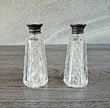 pepper shakers sterling silver lids