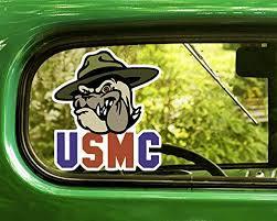 Amazon Com U S Usmc Marine Bulldog Decal 2 Stickers Bogo For Window Car Jeep 4x4 Truck Laptop Bumper Rv Home Kitchen