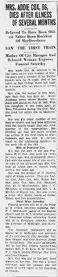 Addie Cox, DNJ, 9-13-1929 - Newspapers.com