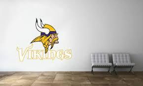 Minnesota Vikings Nfl American Football Wall Mural Sticker Decal Gm0517 For Sale Online Ebay
