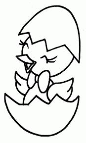 colorear dibujos infantiles de pollito