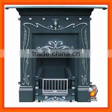 durable fireplaces cast iron insert for