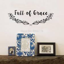 Family Wall Quotes Decal Full Of Grace Inspirational Faith Wall Art Sayings Living Room Decor Wall Stickers Aliexpress