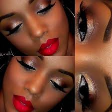eye makeup red dress cat eye makeup