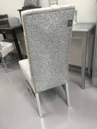 The Stunning Glitter Furniture Company Dining room chairs - silver velvet -  silver glitter | Silver bedroom, Glitter furniture, Home