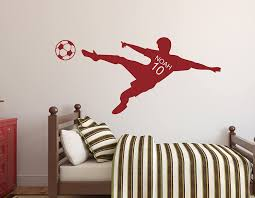 Amazon Com Personalized Name Soccer Wall Decal Nursery Wall Decals Soccer Player Wall Decal Vinyl 42wx20h Baby
