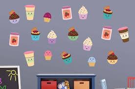 Cute Ice Cream Friends Wall Decal Sticker Set Wall Decal Wallmonkeys Com