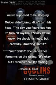 charles l grant the x files goblins