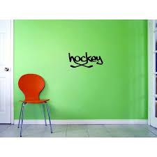 Custom Decals Hockey Wall Art Size 8 X 20 Inches Color Black Walmart Com