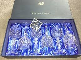 8 x bohemia crystal wine glasses henry