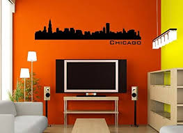 Amazon Com Chicago Skyline Black Wall Decal 60 X 15 Home Kitchen
