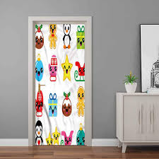 Amazon Com Wall Decal Kawaii Sledge And Mittens Penguin Bathroom Door Decal Used For Powder Room 32 X 80 Inch Baby