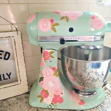 Give New Life To A Kitchen Aid Mixer Using Printable Vinyl And Cricut Kayla Makes Kitchen Aid Kitchen Aid Mixer Vinyl Projects