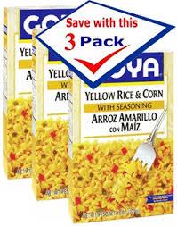 goya yellow rice corn with seasoning