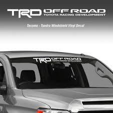 Trd Off Road Windshield Tacoma Tundra Toyota Vinyl Decal Truck Sticker 1pc Dharmapurionline Com