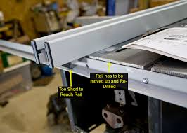 Delta T2 Rear Rail Dimensions For Outfeed Design Woodworking