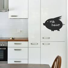 Reusable Chalkboard Flying Pig Wall Decal Etsy