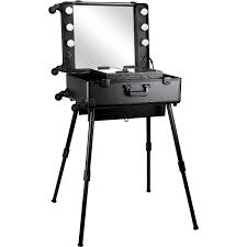 studio makeup case with dimmable led