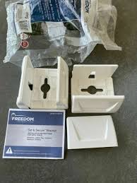 11 Qty Freedom 73004620up Set Secure 2 Pack White Vinyl Fence Brackets 758815 For Sale Online Ebay