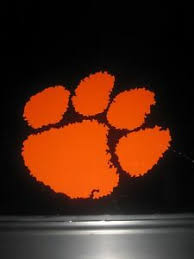 Clemson University Tiger S Paw College School Vinyl Decal Car Sticker 77005 Ebay