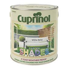 Cuprinol Garden Shades Exterior Wood Paint Matt White Daisy 2 5ltr Exterior Wood Paint Screwfix Com